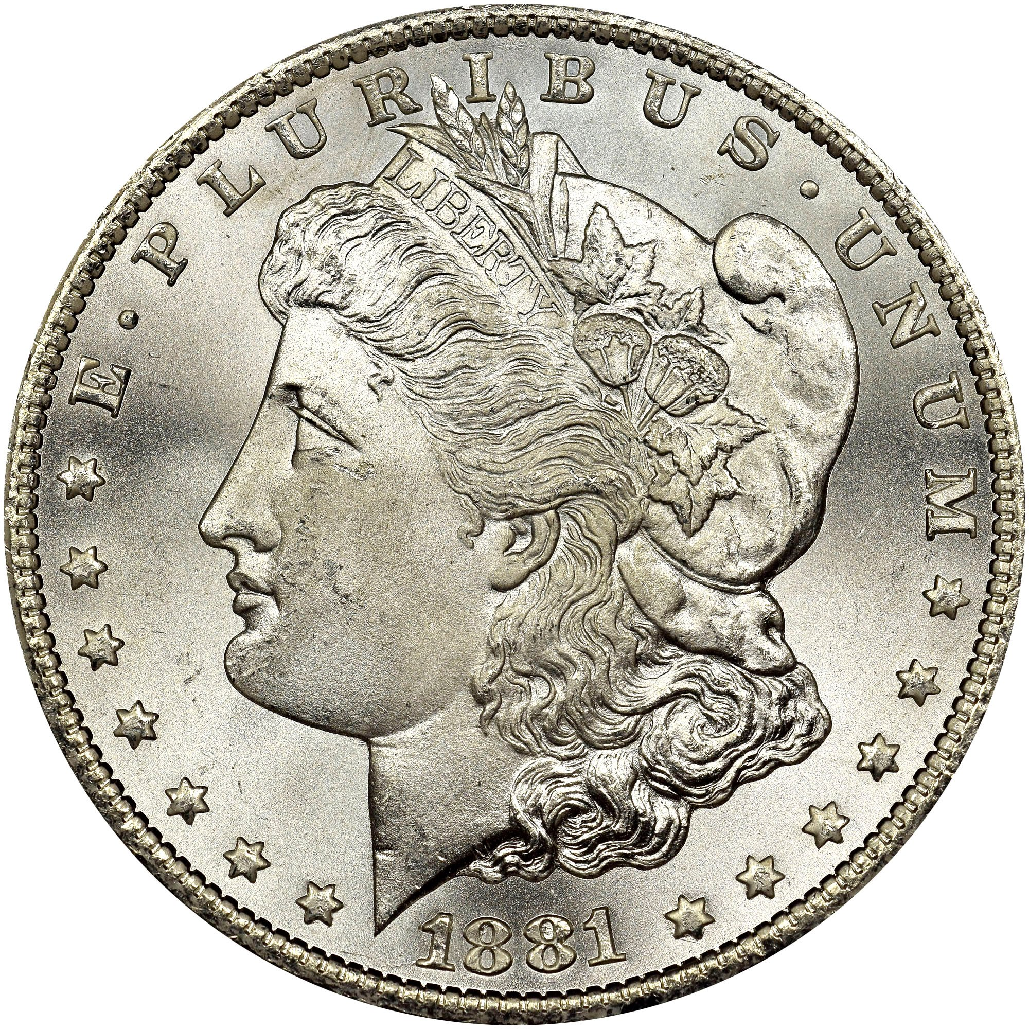 US Silver Morgan Dollar 1881-CC