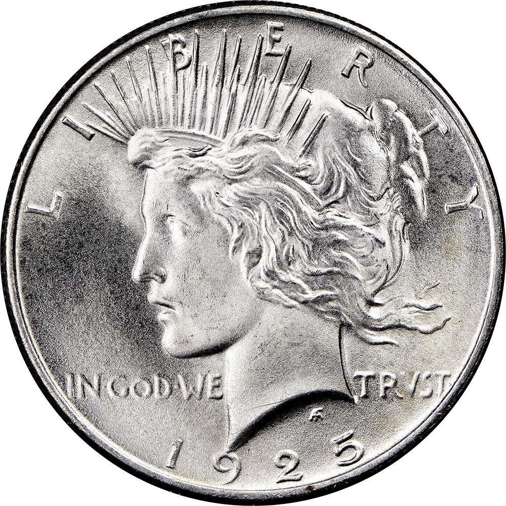 US Silver Peace Dollar 1925-P
